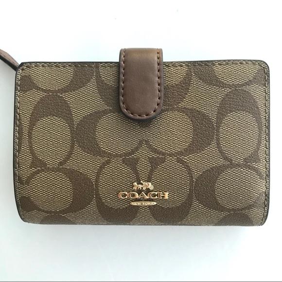 Coach Handbags - Coach classic signature wallet medium pvc leather